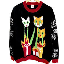 laser cats tacky ugly christmas sweater ugly sweater shop