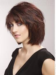chin length bob haircuts layered chin length bob with bangs