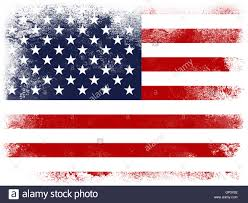 powder paint exploding in colors of united states flag isolated on