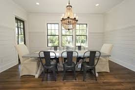 pottery barn concrete table tolix chairs transitional dining room rice construction group