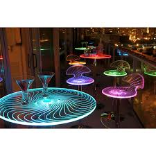 Led Light Bulbs For Sale by This Spyra Led Light Up Bar Table Features A Colorful Splash Of