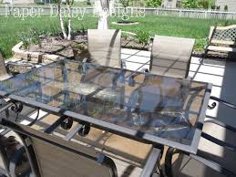 Glass Patio Table Set Makeover An Outdoor Table And Refresh Chairs Deeplysouthernhome