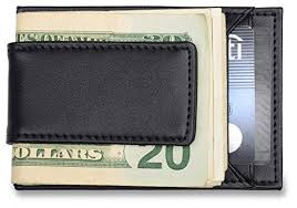 s credit card holder money clip black leather wallet fits
