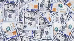 hundred dollar bills for background record stock