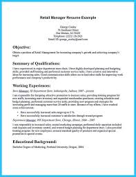 office manager resume objective retail store manager combination