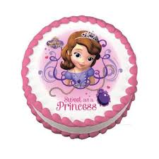 sofia the cake sofia the edible cake topper on frosting paper never
