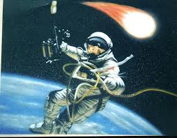 dino s custom art airbrushed wall and gym floor mural services airbrush wall mural scene of astronaut in space