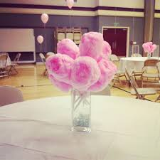 centerpieces with candy cotton candy centerpieces but instead use glowing cotton candy