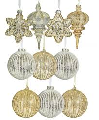 ornaments glass ornaments gold and silver