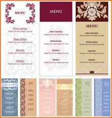 free menu templates download ornate restaurant menu templates