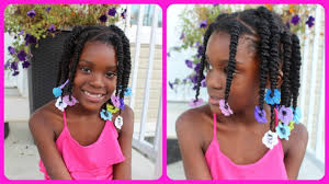 easy kids hairstyles box twist with rubber bands youtube