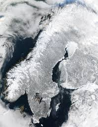 scandinavian peninsula in winter image of the day