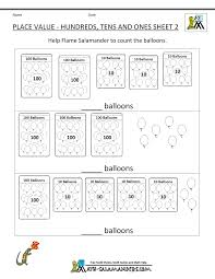 place value for 2nd grade second grade place value worksheets
