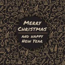 merry and happy new year winter holidays greeting card