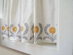 Gray Cafe Curtains Orla Kiely Curtain Panel Gray Leaf 94 Orla Kiely Curtains