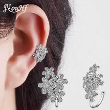 cuff earings jyouhf new design beautiful flower ear cuff earrings women cubic