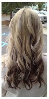 hair styles brown on botton and blond on top pictures of it blonde top dark underneath hair by melissa lobaito pinterest
