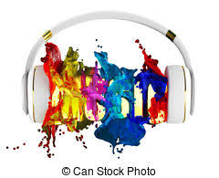 stock illustrations of stylish headphones in bright colors and