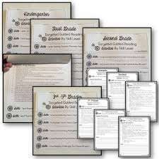 guided reading plan and resources k 5 bundle with new fillable form