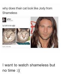 Shameless Meme - why does their cat look like jody from shameless gillian my cat is