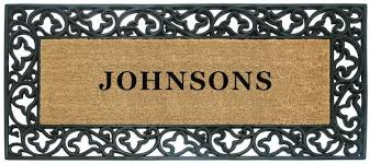 Wrought Iron Rubber Doormat Full Name Personalized Doormats Acanthus Rubber Coco Mats N U0027 More