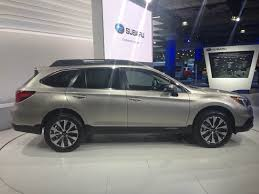 subaru station wagon interior the 2015 subaru outback debuts at the new york auto show the