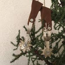 cowboy christmas ornament spurs larger size u2013 north pole west
