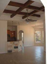 What Is A Coffered Ceiling by How To Make A Coffered Ceiling W Beams Faux Wood Workshop