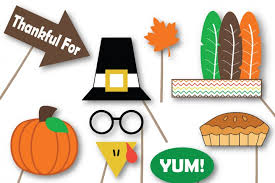thanksgiving photo booth props svg cut files dxf png jpeg