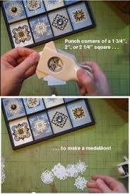 How To Make Punch Cards - paper medallions made with an edge punch paper medallions