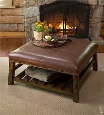 Ottoman Leather Coffee Table Leather Coffee Table Accent Tables