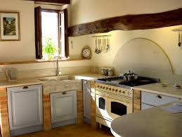 rustic style kitchen cabinets white tile backsplash wooden