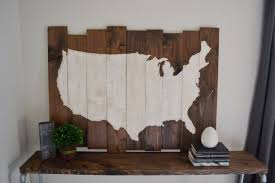 amazing design united states wall art metal map flag navy wood