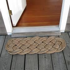 Long Doormats Woven Nautical Entry Rug Square Door Mat Mystic Knotwork