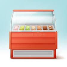 fridge red light ice cream fridge stock vector illustration of frost 101776920