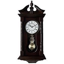 wall clocks amazon com wall clocks grandfather wood wall clock with chime