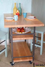 How To Build A Kitchen Island Cart Best 25 Rolling Island Ideas On Pinterest Rolling Kitchen Cart