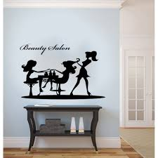 Wall Sticker Warehouse Beauty Salon Graceful Woman Silhouette Vinyl Wall Decal Free