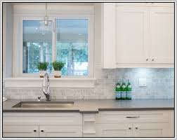 Subway Tile Backsplash Kitchen Traditional With Carrara Marble - Carrara tile backsplash