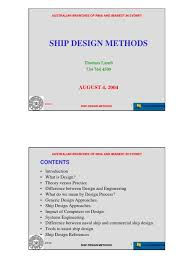 ship design method naval architecture systems engineering