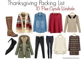 thanksgiving packing list 10 capsule wardrobe for 3 5 day trip