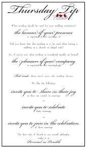 wedding invitation wording request the honour of your presence
