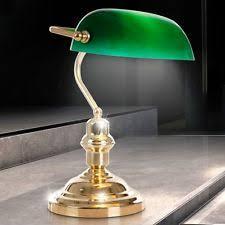 le de bureau banquier laiton verre vert le de table verte en laiton pour la maison ebay