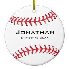 baseball ornaments keepsake ornaments zazzle