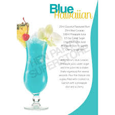 blue lagoon cocktail blue hawaiian cocktail recipe hen party superstore