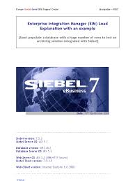 siebel eai guide eim load explanation with an example ibm db2 databases