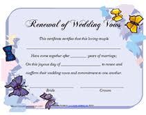 renew wedding vows free printable renewal of wedding vows certificates templates