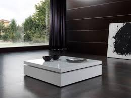 Low Modern Coffee Table Coffee Table Black Glass Top Round Modern Contemporary Coffee