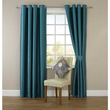 Teal Curtains Wilko Faux Silk Eyelet Curtains Teal 167 X 183cm At Wilko