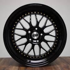 lexus esr wheels gloss black rims esr sr01 17x8 5 5x114 3 fit honda civic accord